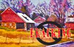 Painting by John Kane courtesy Liz Serkin and Herman Silverman