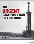 Cover of FWW Report on Fracking.
